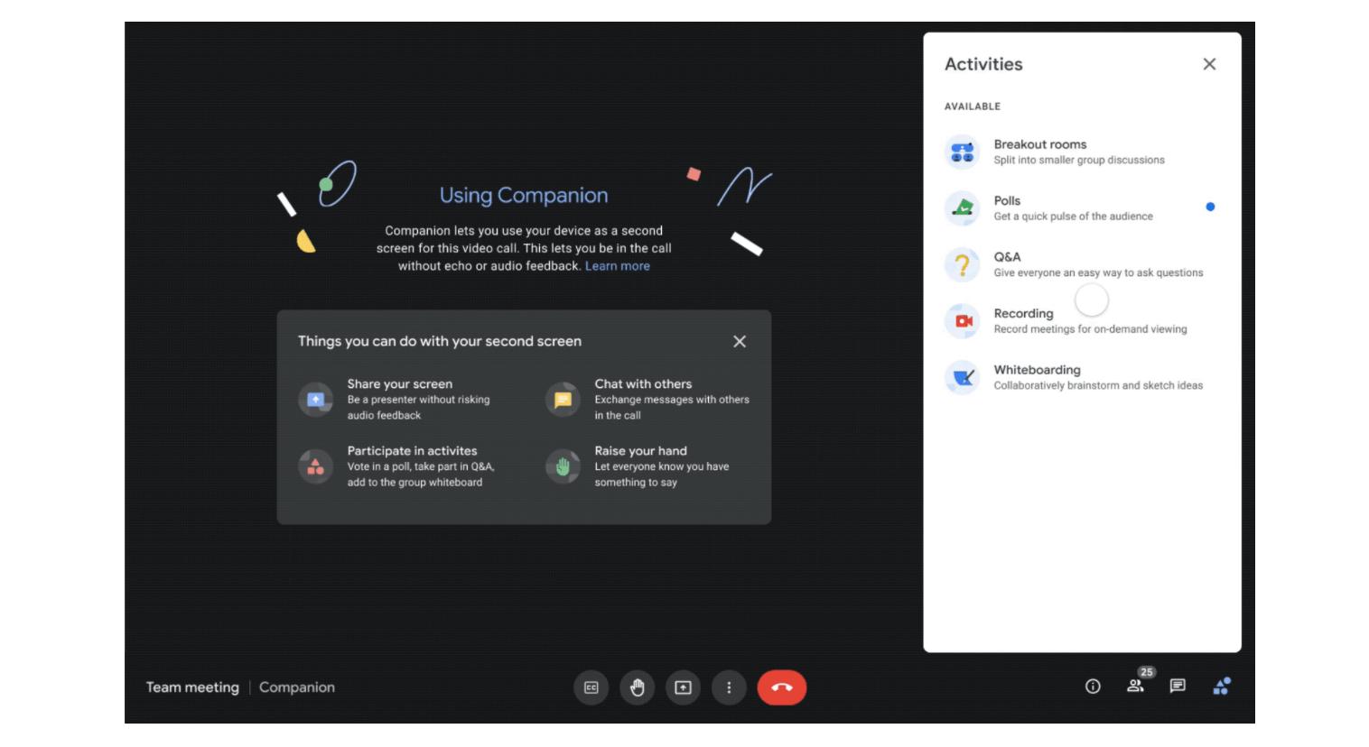 Google Meet Companion mode